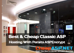 Best and Cheap Classic ASP Hosting With Persits ASPEncrypt